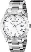 Versace Men's P6Q99GD002 S099 Pair Analog Display Quartz Silver Watch
