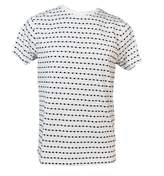 Soulland White Dots Fernell Jacquard T-shirt
