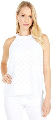 Lilly Pulitzer Rayanne Top (Resort White Pineapple Geo Lace) Women's Clothing