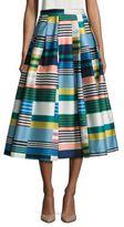 LK Bennett Tippi Striped Pleated Skirt
