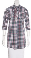 Steven Alan Plaid Button-Up Tunic