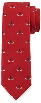 Fendi Mini Monster Eyes Textured Silk Tie