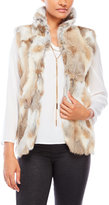 Adrienne Landau Real Rabbit Fur Vest