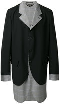 Comme des Garcons layered blazer - men - Wool - S