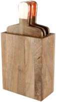 Thirstystone 'Urban Farm' Mango Wood Serving Boards & Holder