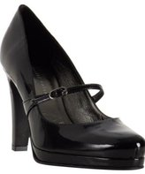 Charles Nolan black patent leather 'Emy' mary jane pumps