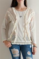 Entro Crochet Fringe Sweatshirt