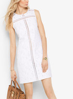 Michael Kors Leopard Jacquard Cotton Shift Dress