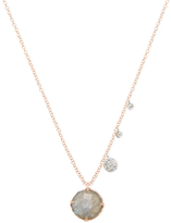 Meira T 14K Rose Gold, Labradorite & 0.17 Total Ct. Diamond Pendant Necklace