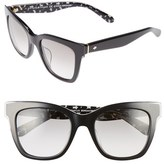 Kate Spade Women's Emmylou 51Mm Sunglasses - Black/ Cream/ Transparent