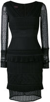 Talbot Runhof layered lace dress - women - Polyamide/Polyester/Spandex/Elastane - 34