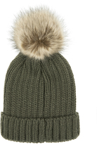 Accessorize Ribbed Pom Beanie Hat