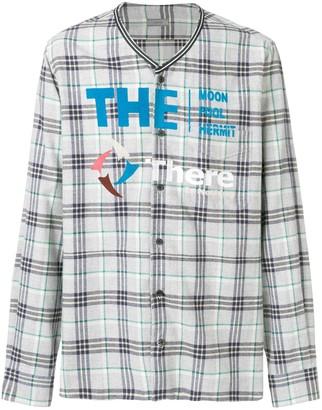 Lanvin printed checked shirt