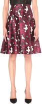 Oscar de la Renta Floral-print silk-satin skirt