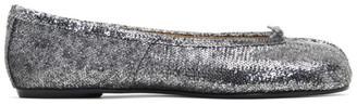 Maison Margiela Silver Sequin Tabi Ballerina Flats