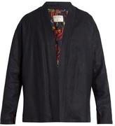 Etro Open-front Linen-blend Jacket