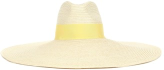 Balmain Exclusive to Mytheresa Wide-brim straw hat