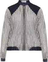 Hayley Hasselhoff for Elvi Plus Size Striped glitter effect jacket