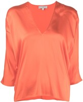 Thumbnail for your product : Antonelli V-neck silk-blend top