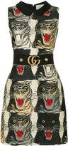 Gucci tiger print dress - women - Silk/Polyamide/Acetate/Wool - 46