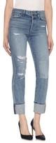 Joe's Jeans Women's Taylor Hill X Debbie Cuff Straight Leg Jeans