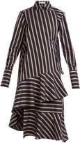Palmer Harding PALMER/HARDING Wrap-style striped cotton dress