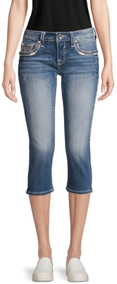Vigoss Distressed Capri Jeans