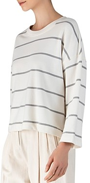 ATM Anthony Thomas Melillo Cotton Striped Sweatshirt