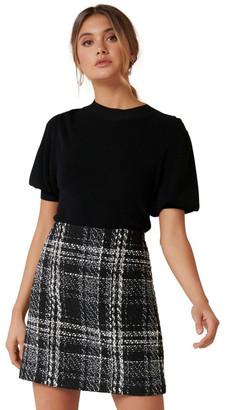 Forever New Sofia Boucle Mini Skirt