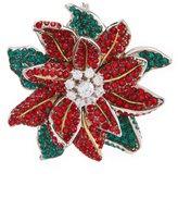 Nadri Jolly Poinsetta Christmas Pin