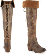 Diba Women's Scary Over the Knee Boot -Taupe