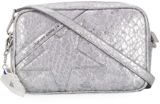 Golden Goose Snake Effect Metallic Crossbody Bag