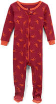 Maroon Kangaroo Footie Pajamas - Infant, Toddler & Boys