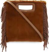 Maje M faux-fur shoulder bag
