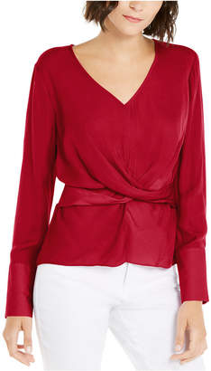 INC International Concepts Inc V-Neck Twist-Front Blouse