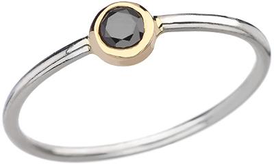 Maya Brenner Black Diamond Bezel Ring