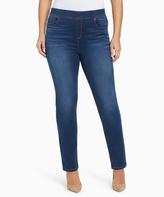 Gloria Vanderbilt Blue Stonewashed Skinny Jeans - Plus