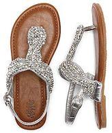 Stevies Gloss Rhinestone Toddler Girls Thong Sandals