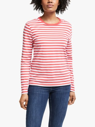 John Lewis & Partners Long Sleeve Breton Stripe T-Shirt