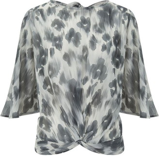 Nougat Cannes Blurred Poppy Blouse