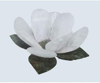 Nature Decorations - Natural Flower Votive Candle Holder