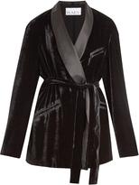 Raey Velvet smoking jacket