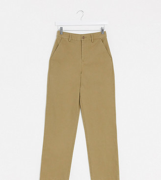 Asos Tall ASOS DESIGN Tall straight leg chino trouser in sand