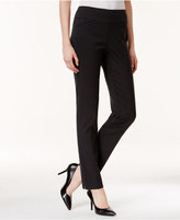 Charter Club Petite Slim-Leg Dot-Print Pants, Only at Macy's