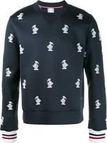 Moncler Gamme Bleu duck embroidered sweatshirt