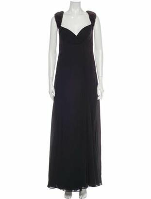 J. Mendel Silk Evening Dress Black