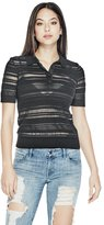 GUESS Anamaria Sheer Striped Polo