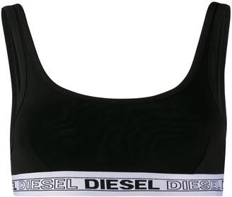 Diesel Sporty Bra With Logo Band