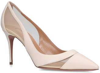 Aquazzura Leather Savoy Pumps 85