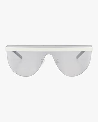 Courreges 99mm Flat Top Shield Sunglasses